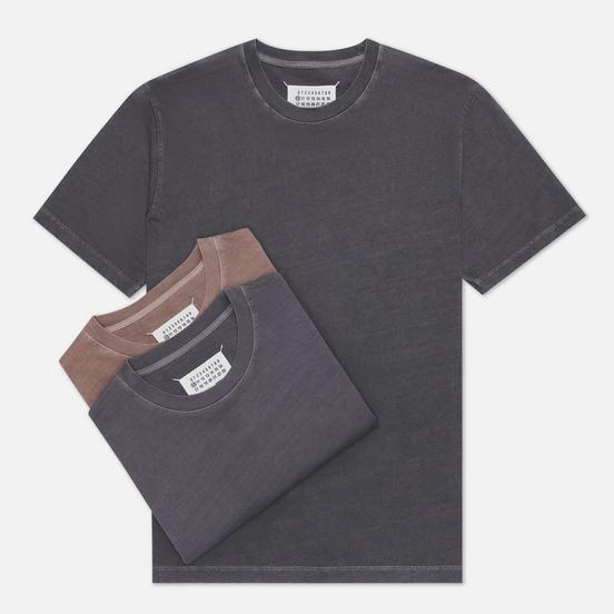 Комплект мужских футболок Maison Margiela Stereotype Crew Neck 3-Pack Dark Grey/Grey/Taupe