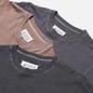 Комплект мужских футболок Maison Margiela Stereotype Crew Neck 3-Pack Dark Grey/Grey/Taupe фото - 1