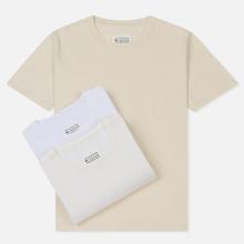 Комплект мужских футболок Maison Margiela Stereotype Crew Neck 3-Pack Off White/Optic White/Cream фото- 0