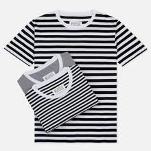 Комплект мужских футболок Maison Margiela Stereotype Stripe Crew Neck 3-Pack Black/White фото- 0