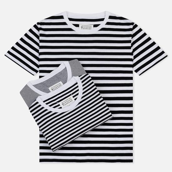 Комплект мужских футболок Maison Margiela Stereotype Stripe Crew Neck 3-Pack Black/White