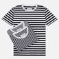 Комплект мужских футболок Maison Margiela Stereotype Stripe Crew Neck 3-Pack Black/White фото - 0