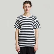 Комплект мужских футболок Maison Margiela Stereotype Stripe Crew Neck 3-Pack Black/White фото- 5