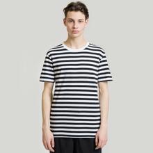 Комплект мужских футболок Maison Margiela Stereotype Stripe Crew Neck 3-Pack Black/White фото- 6