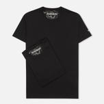 Комплект мужских футболок Napapijri Basic Crew Neck x2 Black фото- 0