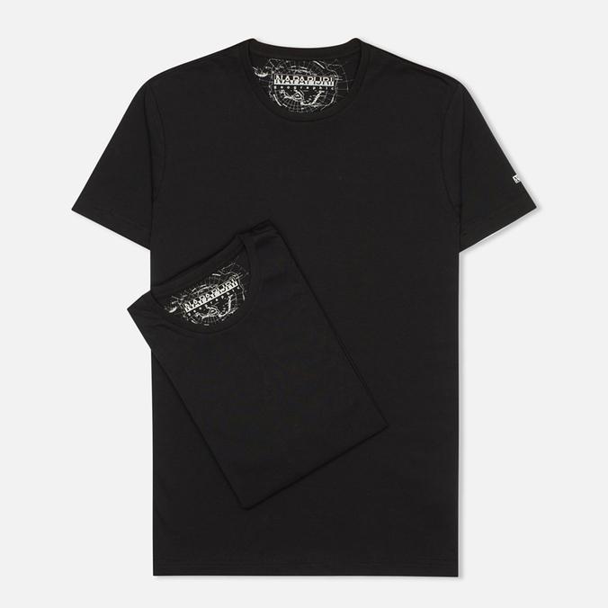 Комплект мужских футболок Napapijri Basic Crew Neck x2 Black