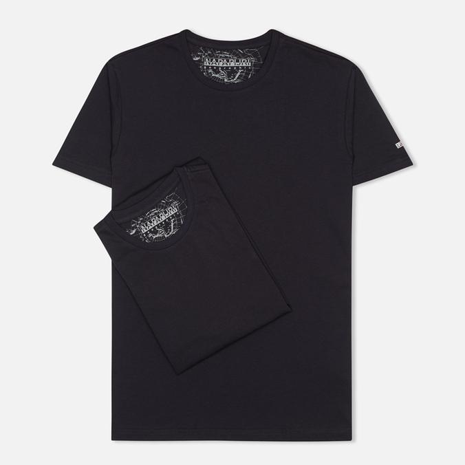Комплект мужских футболок Napapijri Basic Crew Neck x2 Blue Marine