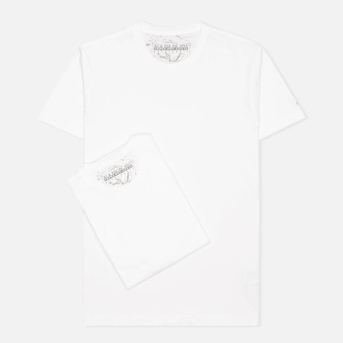 Комплект мужских футболок Napapijri Basic Crew Neck x2 Bright White