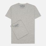 Комплект мужских футболок Napapijri Basic Crew Neck x2 Grey Melange фото- 0