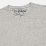Комплект мужских футболок Napapijri Basic Crew Neck x2 Grey Melange фото- 1