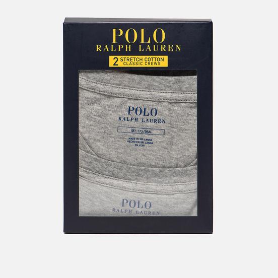 Комплект мужских футболок Polo Ralph Lauren Classic Crew Neck 2-Pack Anthracite/Anthracite