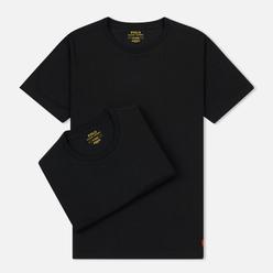 Комплект мужских футболок Polo Ralph Lauren Classic Crew Neck 2-Pack Black/Black