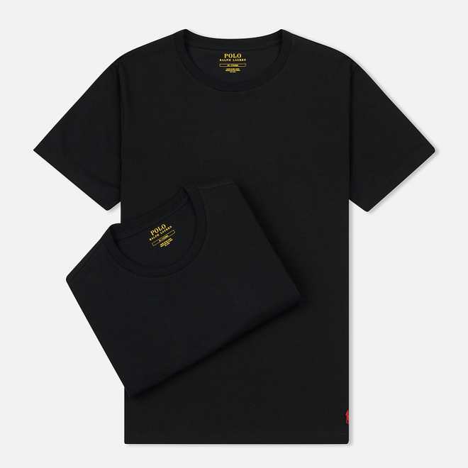 Комплект мужских футболок Polo Ralph Lauren Classic Crew Neck 2-Pack Black/Black