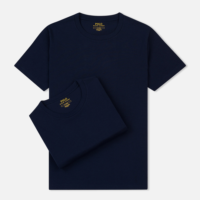 Комплект мужских футболок Polo Ralph Lauren Classic Crew Neck 2-Pack Navy/Navy