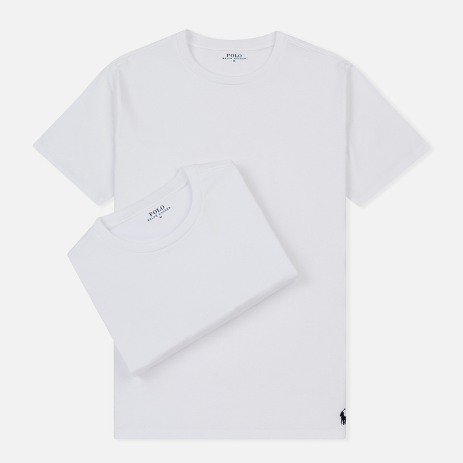 Комплект мужских футболок Polo Ralph Lauren Classic Crew Neck 2-Pack White/White