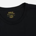 Комплект мужских футболок Polo Ralph Lauren Classic Crew Neck 3-Pack Black/Black/Black фото- 2