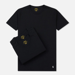 Комплект мужских футболок Polo Ralph Lauren Classic Crew Neck 3-Pack Black/Black/Black фото- 0