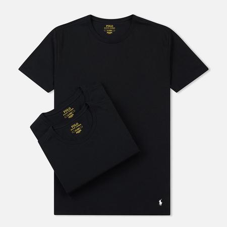 Комплект мужских футболок Polo Ralph Lauren Classic Crew Neck 3-Pack Black/Black/Black