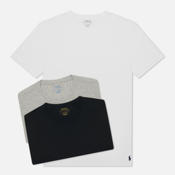 Комплект мужских футболок Polo Ralph Lauren Classic Crew Neck 3-Pack White/Black/Andover Heather