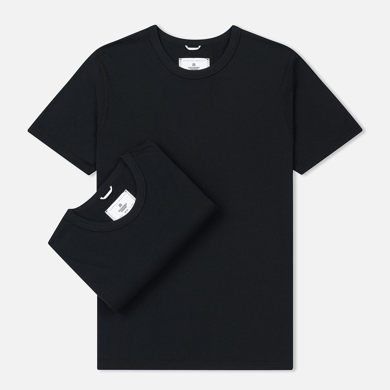 Комплект мужских футболок Reigning Champ Knit Jersey Set 2 Pack Black