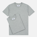 Комплект мужских футболок Reigning Champ Knit Jersey Set 2 Pack Heather Grey фото- 0