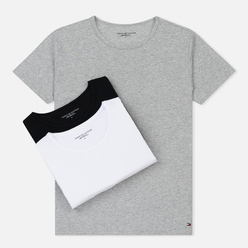 Комплект мужских футболок Tommy Hilfiger Underwear 3-Pack Premium Essentials Crew Neck Black/Grey Heather/White