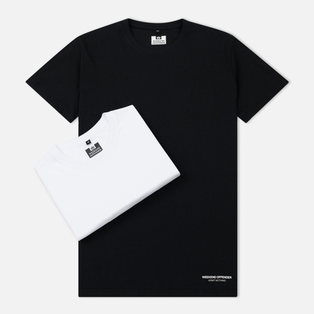 Комплект мужских футболок Weekend Offender Prison Issue Twin Pack Black/White