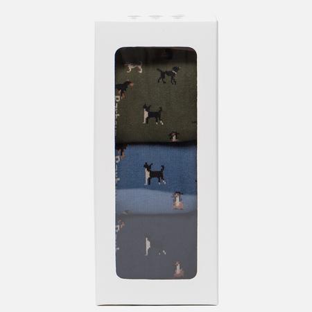 Комплект мужских носков Barbour 3-Pack Dog Motif Gift Box Multicolor