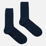 Комплект мужских носков Burlington Classic Everyday 2-Pack Marine фото- 1