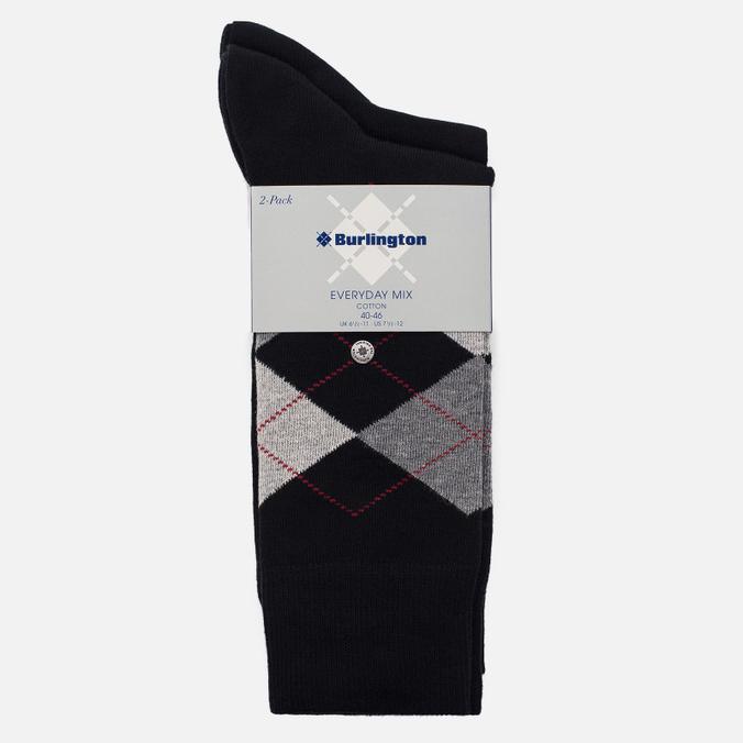 Комплект мужских носков Burlington Everyday 2-Pack Black