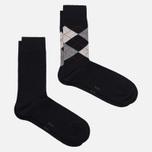 Комплект мужских носков Burlington Everyday 2-Pack Black фото- 1