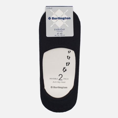 Комплект мужских носков Burlington Everyday 2-Pack Invisible Black
