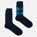 Комплект мужских носков Burlington Everyday 2-Pack Marine фото- 1