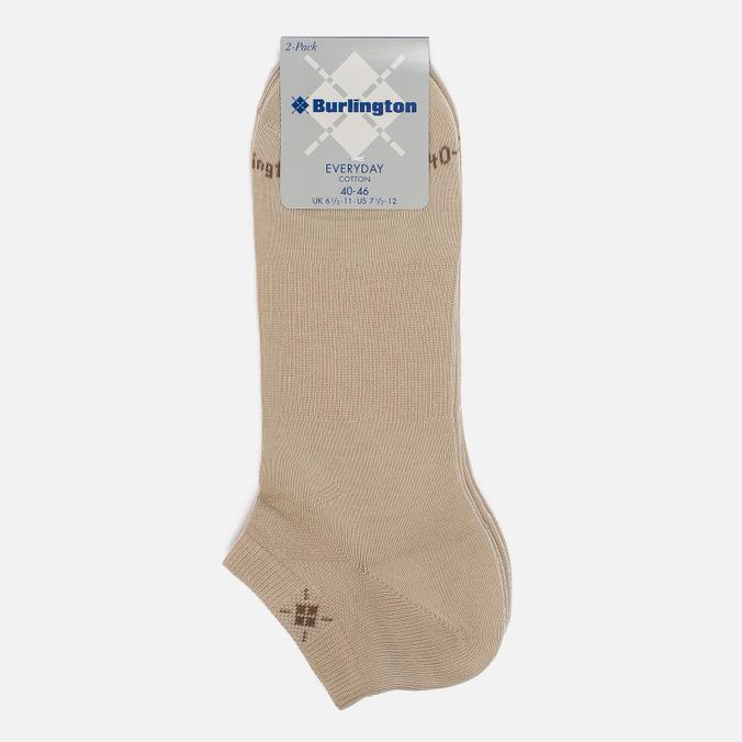 Комплект мужских носков Burlington Everyday 2-Pack Sneaker Sand