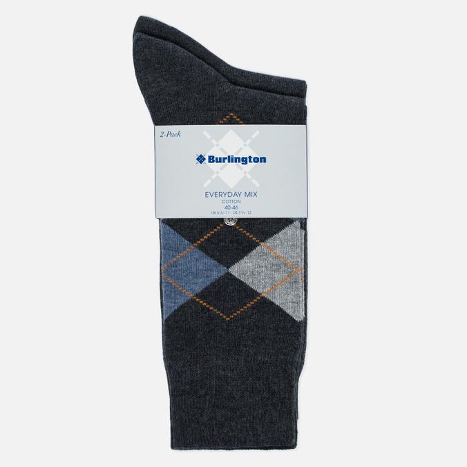 Комплект мужских носков Burlington Everyday 2-Pack Anthra Mel