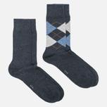 Комплект мужских носков Burlington Everyday 2-Pack Anthra Mel фото- 1