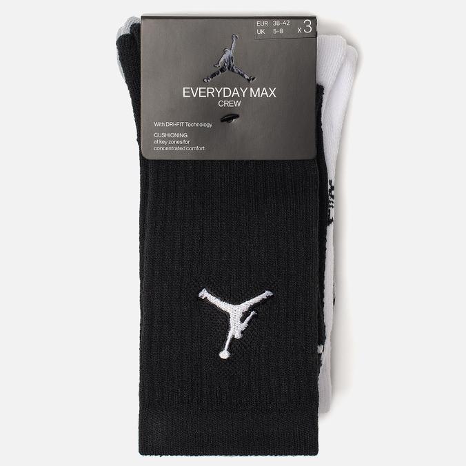 Комплект носков Jordan Jumpman Everyday Max Crew 3-Pack Black/White/Wolf Grey