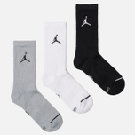 Комплект носков Jordan Jumpman Everyday Max Crew 3-Pack Black/White/Wolf Grey фото- 1