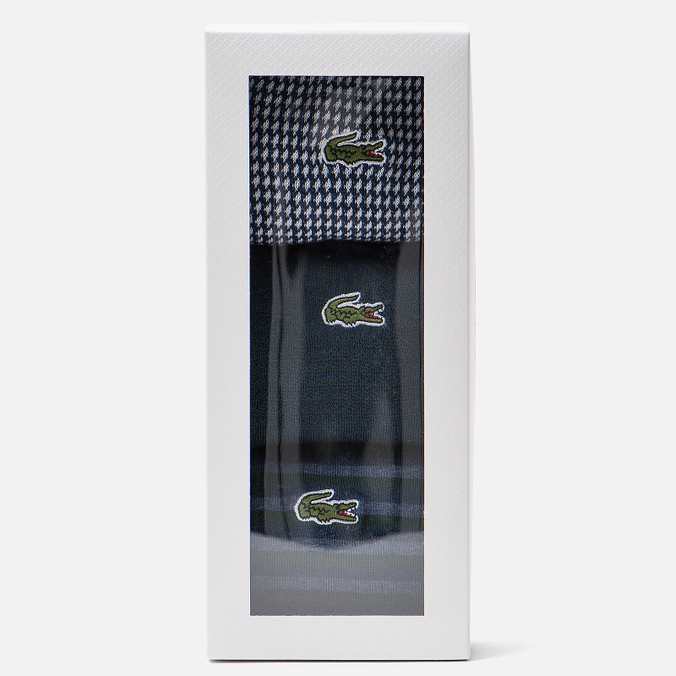 Комплект носков Lacoste 3-Pack Print And Striped Sailor Chine/Aconit/White