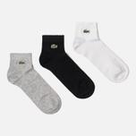 Комплект мужских носков Lacoste 3-Pack Sport Low-Cut White/Black/Grey Chine фото- 0