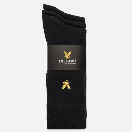 Комплект мужских носков Lyle & Scott Plain 3 Packs True Black