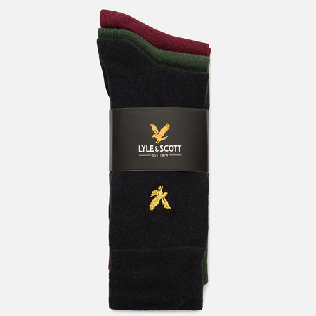 Комплект мужских носков Lyle & Scott Plain 3 Packs Assorted