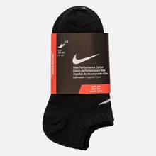 Комплект носков Nike 3-Pack Lightweight No-Show Black/Black/Black фото- 1