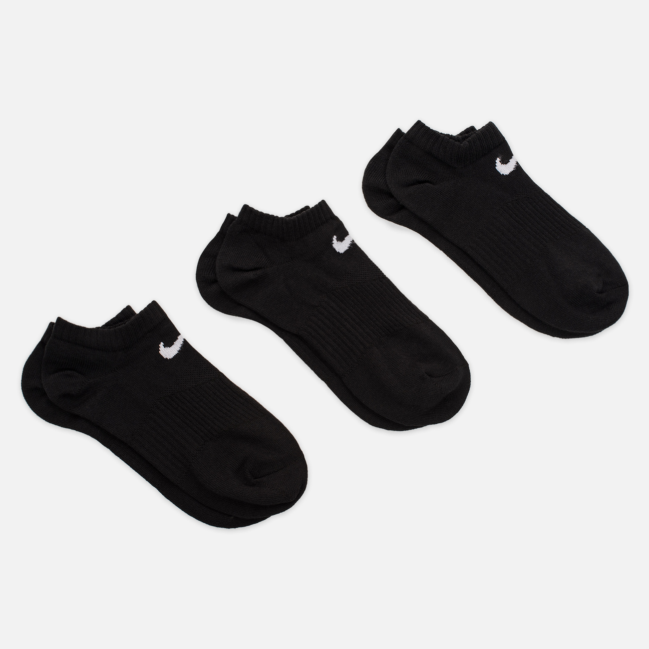 Комплект носков Nike 3-Pack Lightweight No-Show Black/Black/Black