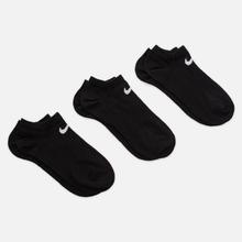 Комплект носков Nike 3-Pack Lightweight No-Show Black/Black/Black фото- 0