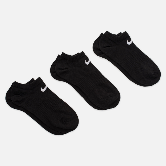 Комплект носков Nike 3-Pack Lightweight No-Show Black/Black/Black