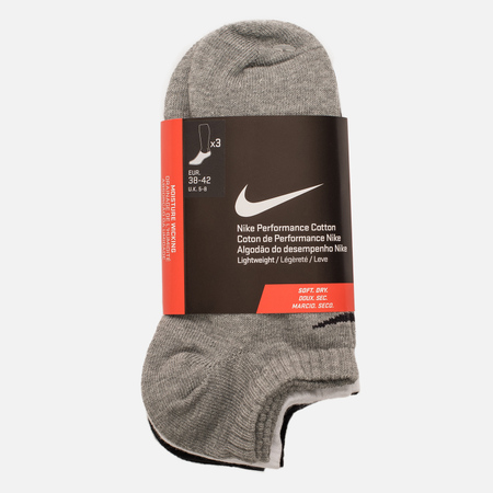 Комплект мужских носков Nike 3-Pack Lightweight No-Show Black/Grey/White
