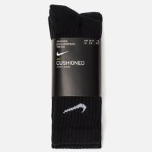 Комплект носков Nike 3-Pack Value Cotton Crew Black/Black/Black фото- 1