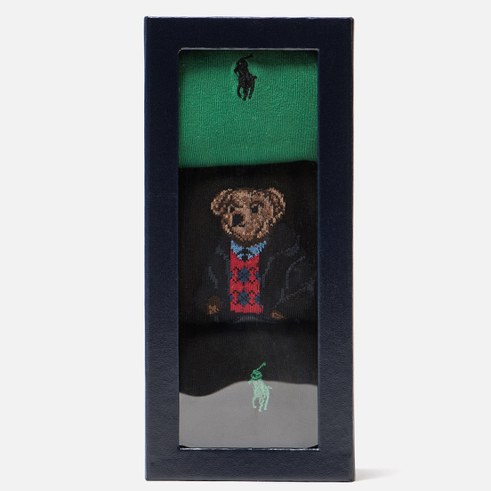 Комплект носков Polo Ralph Lauren AGL Sweat Bear 3-Pack Black/Green