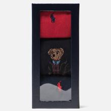 Комплект носков Polo Ralph Lauren AGL Sweat Bear 3-Pack Red/Multicolor фото- 1